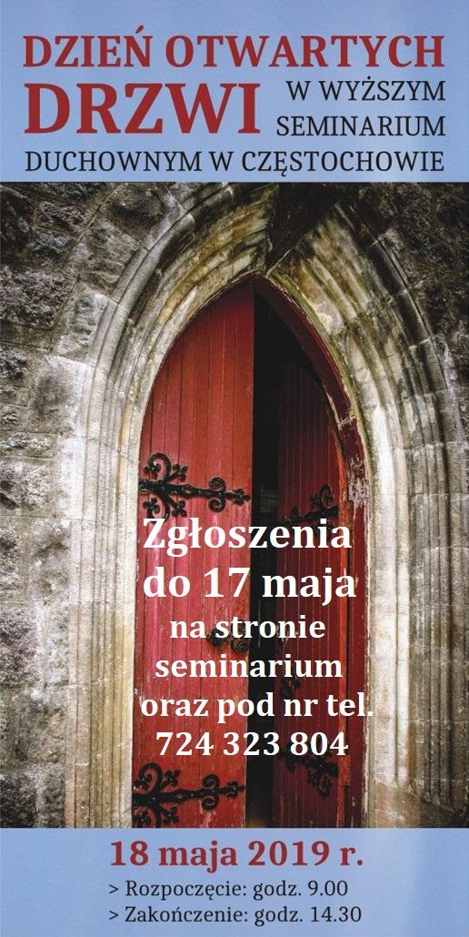 Plakat Dzień Otwartych Drzwi w Seminarium